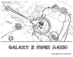 printable coloring pages with super mario galaxy 2 eson me