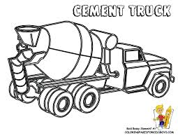 cement truck coloring kids coloring