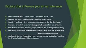 effects of stress overload ppt video online download factors that influence your stress tolerance