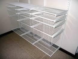 Rubbermaid Closet Organization Stunning Wire Shelving Closet Organizer With White Finished Wire