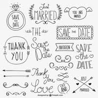 wedding calligraphic ornaments vector free vector in