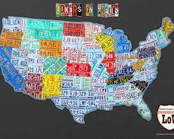 road trip map of usa loners on wheels singles rv club license plate map usa road trip