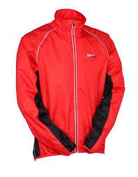 red waterproof cycling jacket ridge unisex water resistant cycling jacket long sleeved hi viz