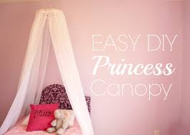 canopy beds for little girls easy diy princess canopy youtube