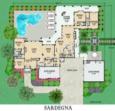 mediterranean house plans with courtyards sardegna courtyard floor plan mediterranean floor plans