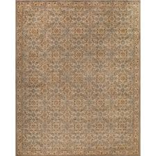 Kids Jungle Rug by Momeni Caprice Palm Prints Gray 5 Ft X 7 Ft Indoor Area Rug