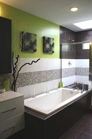white glossy porcelain bathtub brown marble bathroom wall panel small