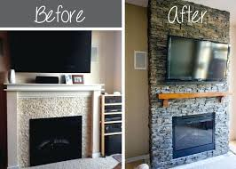 fireplace hearth remodel ideas brick wall renovation before after