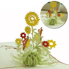 thanksgiving flowers free shipping thanksgiving 3d pop up flower plants series handmade greeting