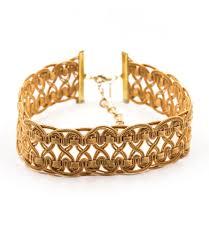 gold lace ribbon tatjana modele lace ribbon choker apricot natalie b jewelry