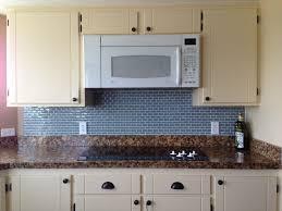 Interior  Creative Kitchen Backsplash With Glass Tiles Grey - Creative backsplash