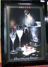 martini godard michael godard champagne tango custom framed artwork