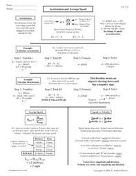 Speed Velocity And Acceleration Calculations Worksheet Answers Average Speed Worksheet Free Worksheets Library And