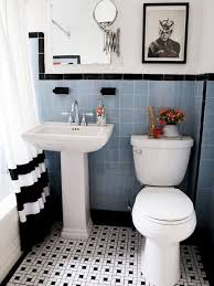 blue bathroom tiles ideas 31 retro black white bathroom floor tile ideas and pictures our