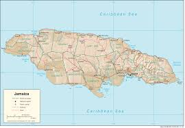 jamaica physical map jamaica map with cities political jamaica map outline