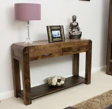 glamorous wooden hall console table design ideas