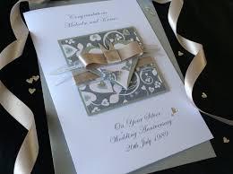 luxury silver wedding anniversary card handmade cards pink posh