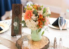 jar centerpieces for weddings the 25 best wood slab centerpiece ideas on rustic