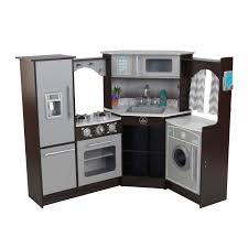encourage creative playtime with this toy kitchen which uses