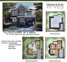 Cypress Floor Plan Princeton Heights New Molino Bacoor Cavite House And Lot