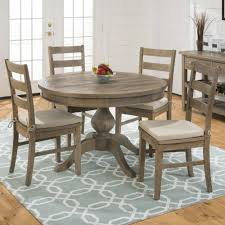 slater mill pine reclaimed pine round to oval 5 piece dining set