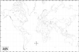 World Blank Map by Links To Map Sites