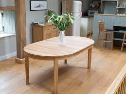 round baltic premium solid oak double extending table
