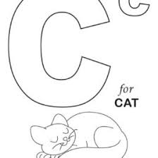 cute cat start with letter c coloring page free u0026 printable letter