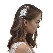 headpiece wedding remedios bridal hair flower side comb barrette