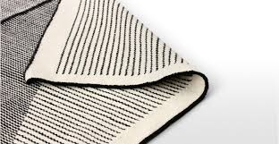 Off White Rug Black And White Rug Large Wool Flatweave Geometric 160 X 230cm