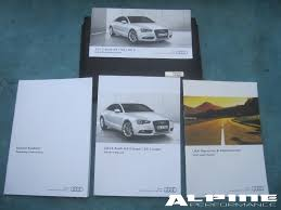 origianal audi a5 s5 coupe w out nav owners manual set books case
