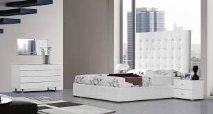 modrest lyrica white leatherette tall headboard queen size bed