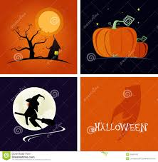 halloween banner and logo flat design style vector illustration