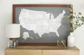 us map framed classic us map large push pin travel map framed
