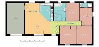 plan maison plain pied 4 chambres avec suite parentale modele maison plain pied 4 chambres finest modele maison chambres