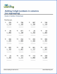 adding 3 numbers grade 2 math worksheet addition adding two 3 digit numbers in
