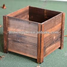 eco friendly handcraft make wooden garden planter flower pot buy