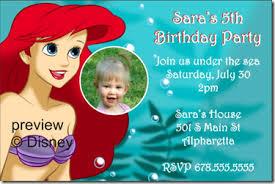 free mermaid birthday party invitation archives