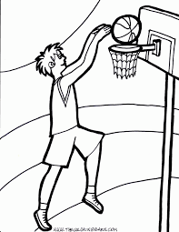 nba players coloring pages basketball printable coloring home