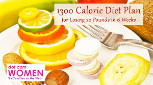 1300 calorie diet plan for losing 20 pounds in 6 weeks free