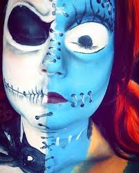 Nightmare Before Christmas Halloween Makeup by Nightmare Before Christmas Jack And Sally Halloween Makeup