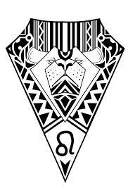 leo zodiac sign tribal design by elenoosh on deviantart