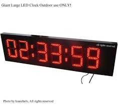 8 outdoor marathon led race clock large outdoor led