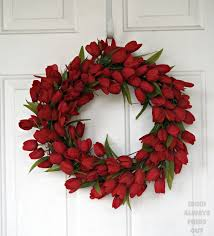 tulip wreath wreath ideas how to make a tulip wreath