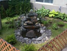 easy stone waterfall with small ponds for backyard garden house