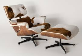 furniture unique cowhide swivel eames lounge chair replica with