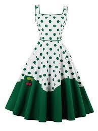 aliexpress com buy sisjuly women summer green dot dress female