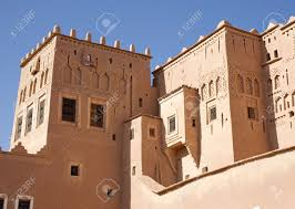 kasbah taouririt morocco architecture details stock photo