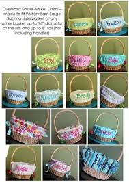 easter basket liners personalized easter basket liner i like the bias edge instead of the