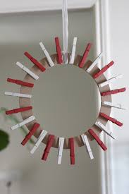 christmas holder clothespin christmas card wreath diy catch my party